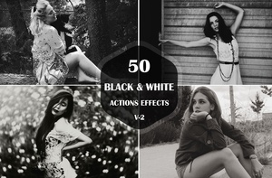 50 Black & White Photoshop Actions