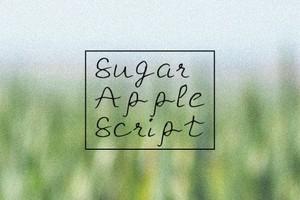 Sugar Apple Script Handmade Font