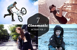 7 Cinematic Actions FX Photoshop Actions V2