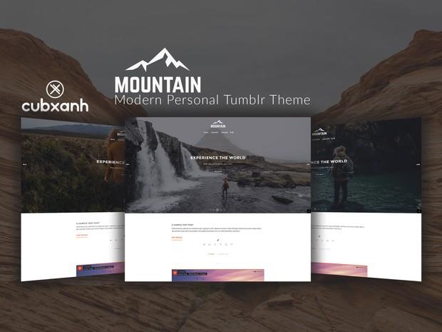 Mountain - Modern Personal Tumblr Theme