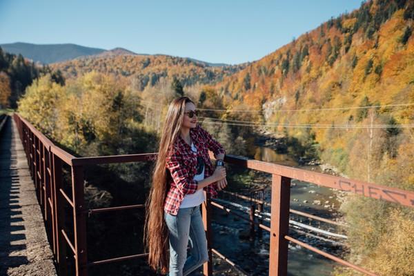 PHOTO SET - Olga's hair and beautiful nature photoshoot