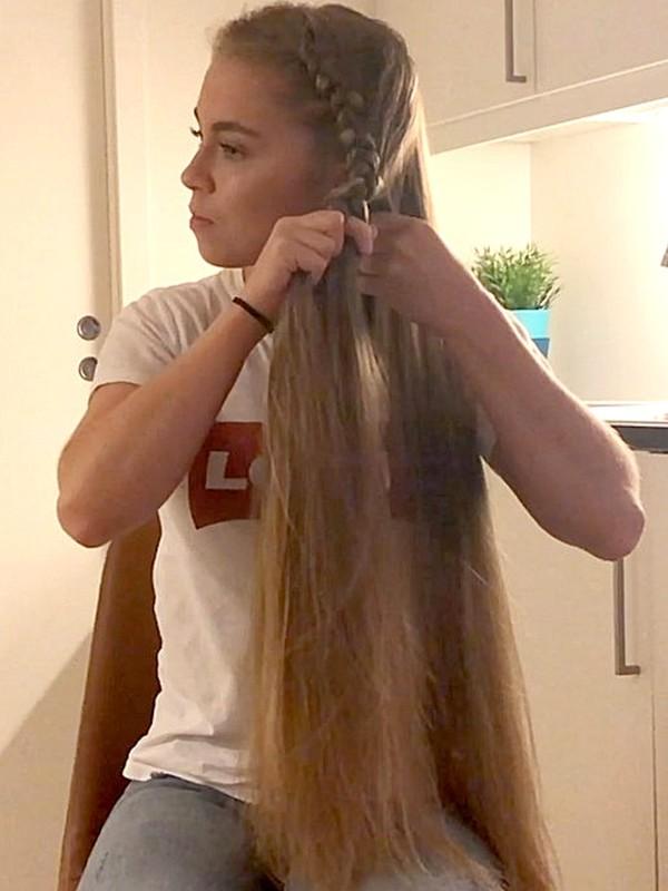 VIDEO - Selma's side braid