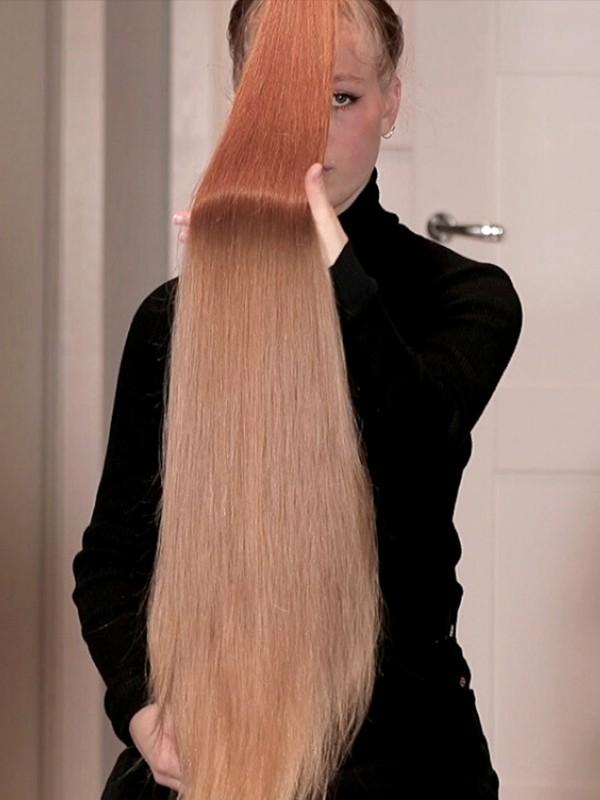 VIDEO - Super long ponytails