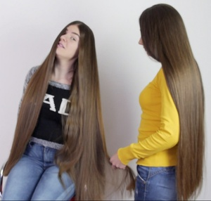 VIDEO - Double classic length hair goddesses