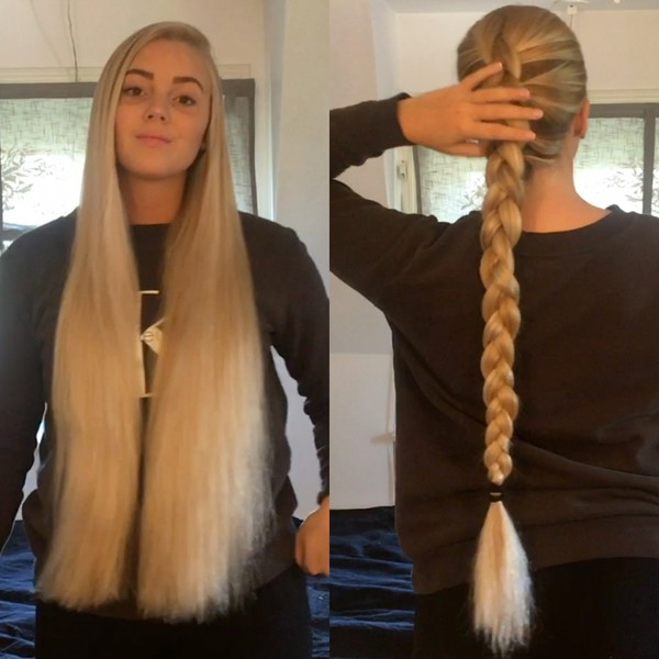 VIDEO - Swedish blonde braids