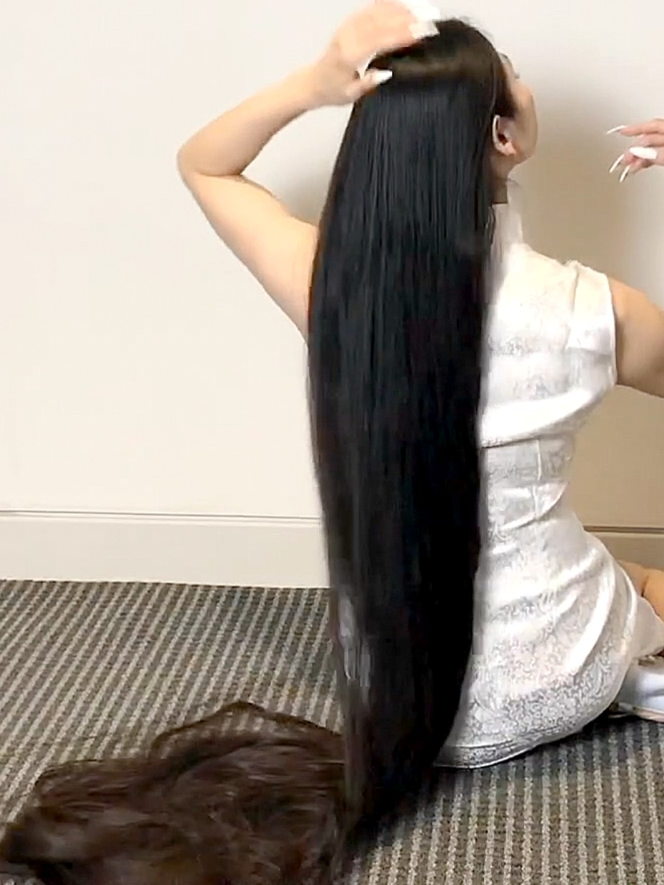 video  lot  length  lot  hair play realrapunzels