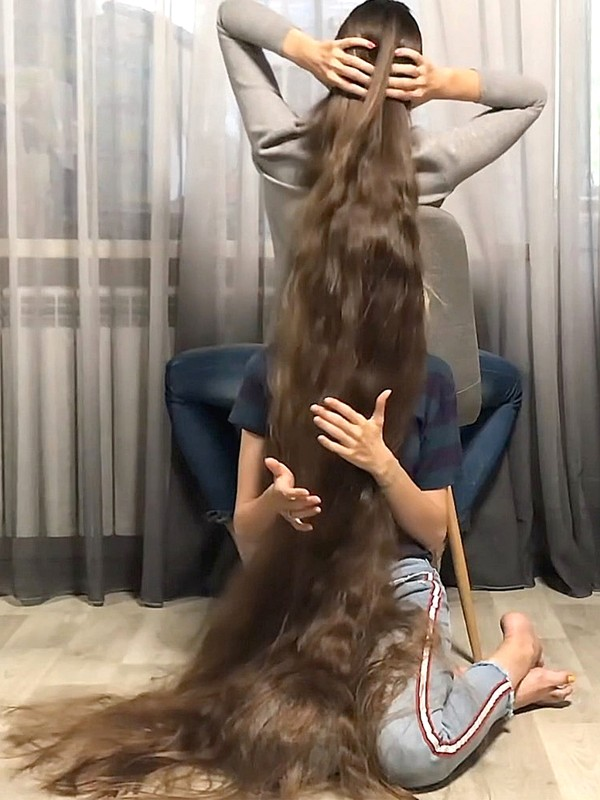 VIDEO - Real-Life Rapunzel's funny bundrops