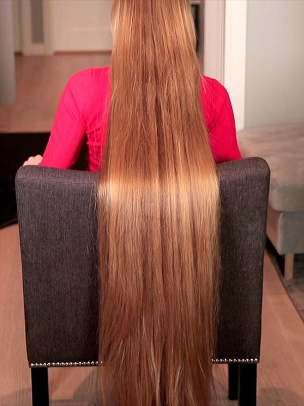 VIDEO - Perfect super silky long hair