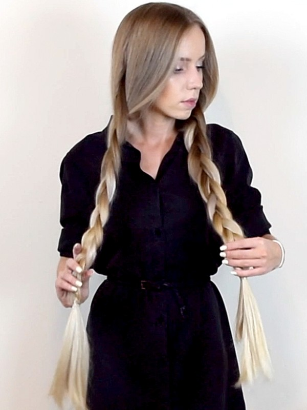 VIDEO - Alena's healthy double braids