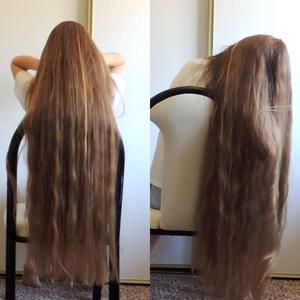 VIDEO - Knee length hair play in chair
