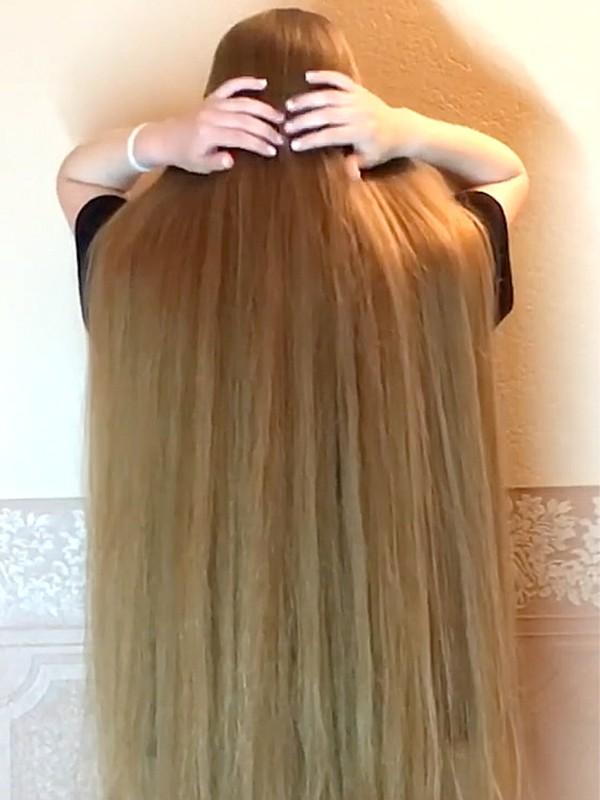 VIDEO - Heavy blonde hair