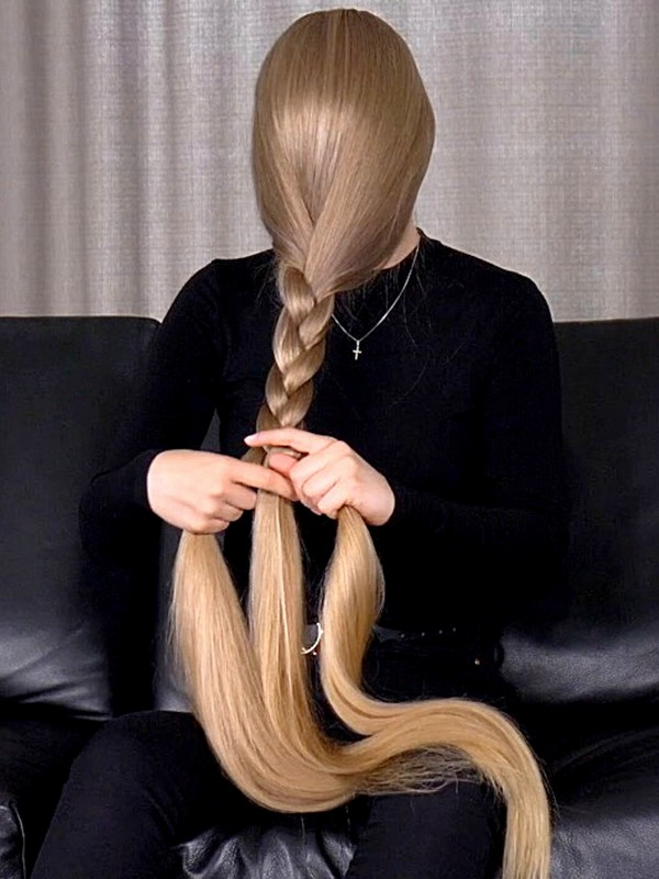 VIDEO - Extreme blonde braids