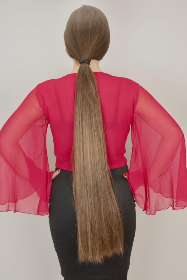 PHOTO SET - Suzana's ponytail photoshoot