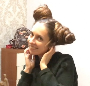 VIDEO - Very large double buns (sidebuns)