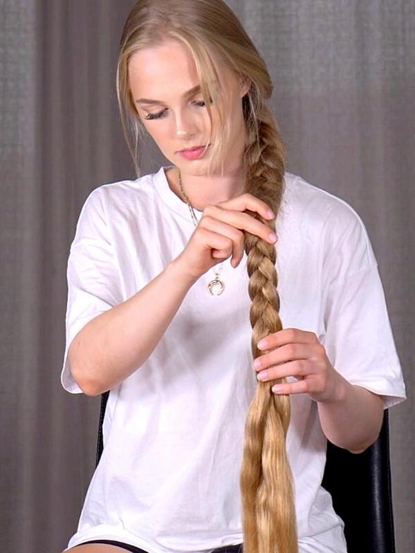 VIDEO - Very long braid play and display