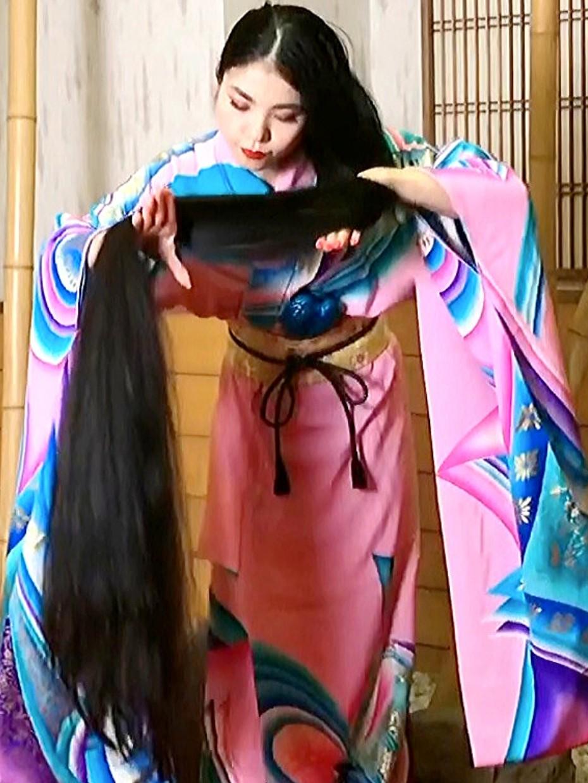 Video Super Long Asian Hair Realrapunzels