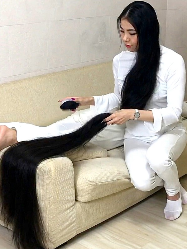 VIDEO - Special long hair play and fun