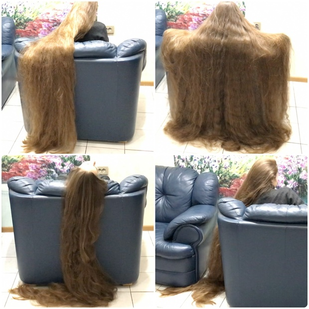 Video Floor Length Hair Play And Chair Covering Realrapunzels