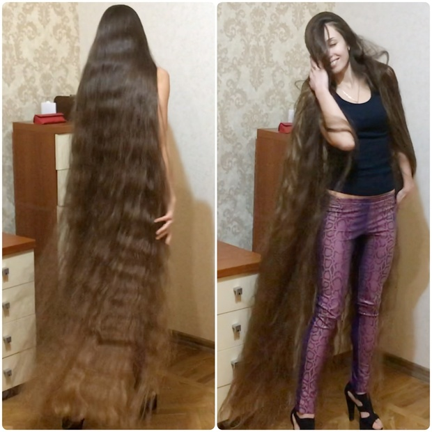 Video High Heels And Floor Length Hair Realrapunzels