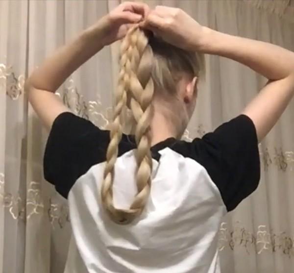 VIDEO - Brushing and folded braid