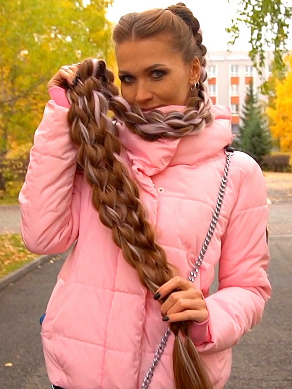 VIDEO - Super long special braid styling