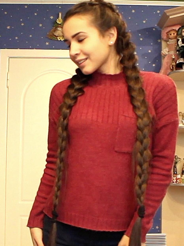 Video Long Braids Swinging Realrapunzels
