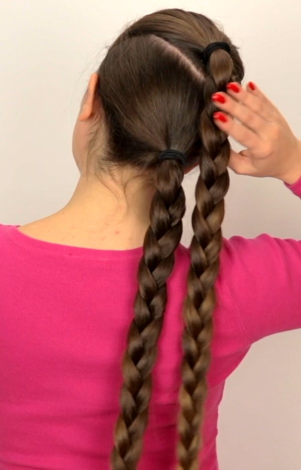 VIDEO - Suzana's special hairstyle: Vertical double braids