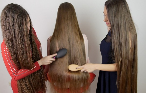 VIDEO - Nina gets styled by her Rapunzel friends