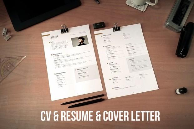 CV, resume & cover letter template v2