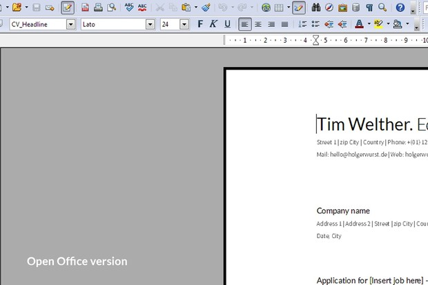 Clear Resume and Cover Letter Template
