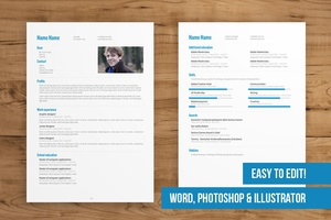 CV Template for Photoshop and Word