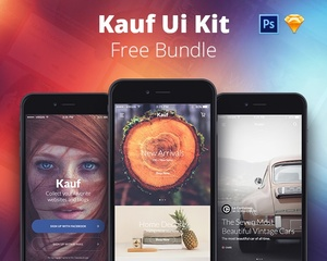 FREE Kauf UI Kit Bundle Lite - Sketch & Photoshop