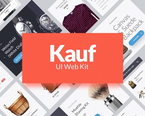 Kauf UI Web Kit - FREE Demo