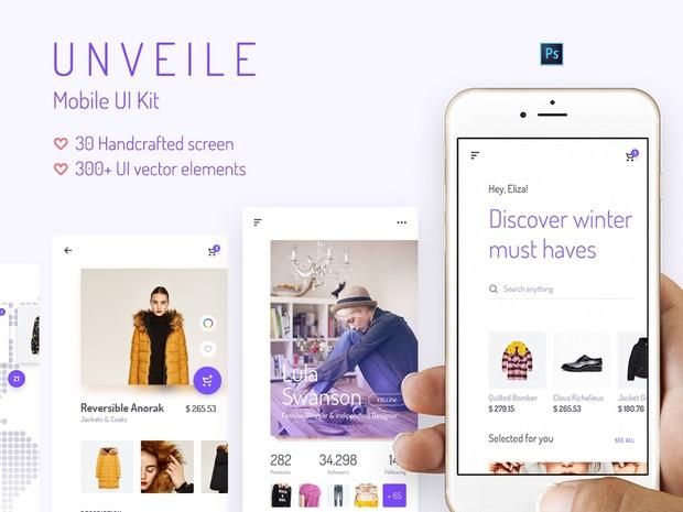 Unveile iOS UI Kit for Photoshop - by Yebo