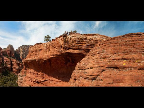 Sedona, Arizona - Red Rocks - Boynton Canyon Hikers