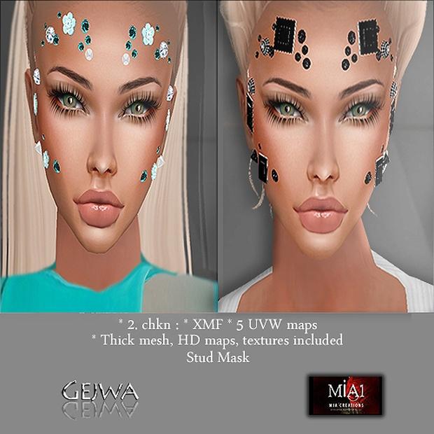Stud Mask IMVU MESH & TEXTURE LIMITED