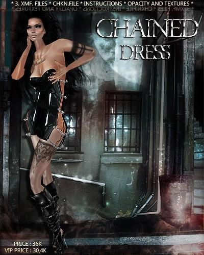CHAINED Dress IMVU MESH & TEXTURE