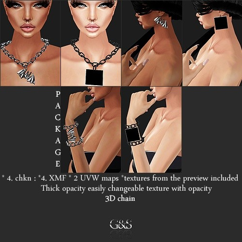 3D Chained Package IMVU MESH