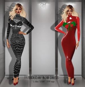 HD Bow Dress Full Pack IMVU MESH