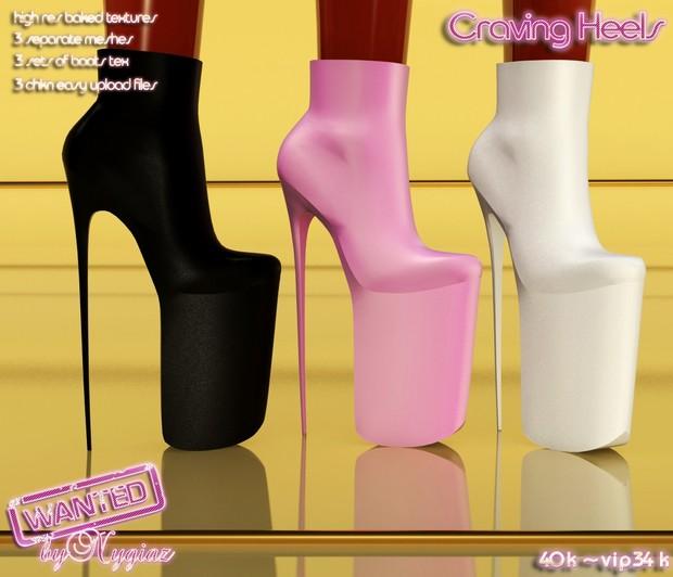 Craving Heels Full Pack IMVU MESH