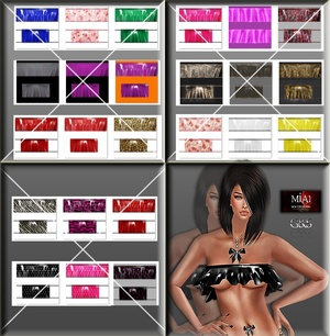 24 Texture Set Full Pack IMVU TEX for PVC Top AP IMVU MESH