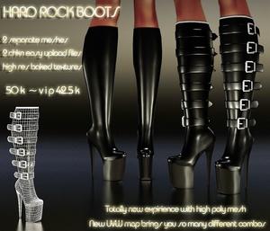 Hard Rock Boots Full Pack IMVU MESH