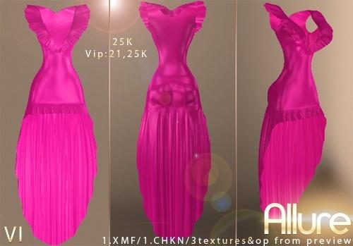 Allure Dress Version 1 IMVU MESH
