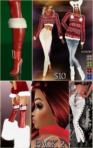 PACK 2 Full Packages IMVU MESHES & TEXTURES