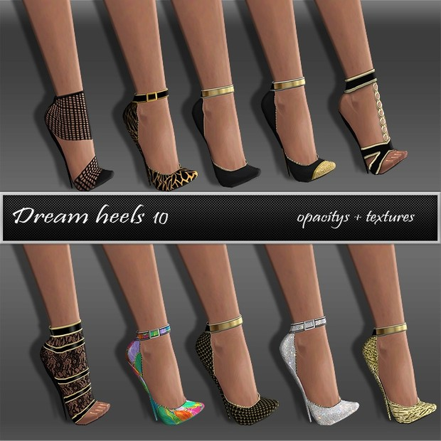 Dream Heels Texture Set Full Pack IMVU TEX