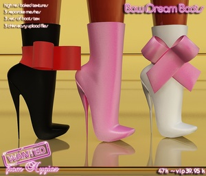 Bow Dream Boots Full Pack IMVU MESH