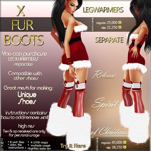 X Fur Boots Full Pack IMVU MESH
