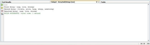 Finding unique string from two sorted reverse lexical order arrays in Java