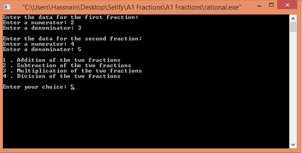 Representation and manipulation of rational numbers in C++