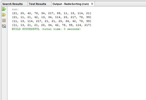 Java Program to implement Radix Sort Algorithm and displaying the step by step sorting